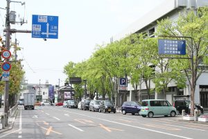 そば処「田」アクセス:中央一丁目交差点