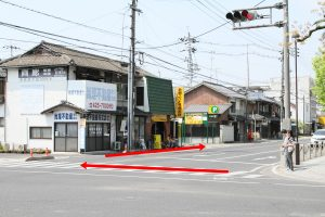 そば処「田」アクセス:中央1丁目交差点